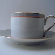 Mikasa Grandeur Gray Cup and Saucer