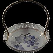 Handpainted Porcelain Basket - Bavarian