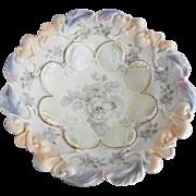 German Handpainted Bowl Wild Roses - IPF Mark