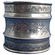 SALE Large Fancy Sterling Silver Napkin Ring with Great Details