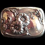 Art Nouveau Daisy Sterling silver Soap Dish Box