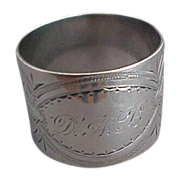 SALE Gorham Aesthetic Sterling Silver Napkin Ring Date Mark 1873