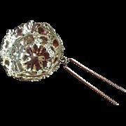 SALE Ornate Sterling Silver Tea Ball Strainer Basket by R. Blackinton