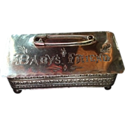 SALE Baby's Friend Sterling silver Hinged Box