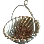 SALE Large Sterling silver Tea Strainer Basket by Whiting