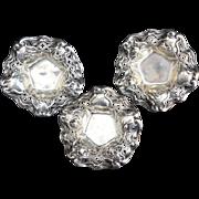 SALE 3 Wallace Art Nouveau rose Sterling Silver Bowls
