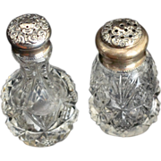2 Sterling silver Topped Salt or Pepper Shakers by P.W. Ellis of Toronto