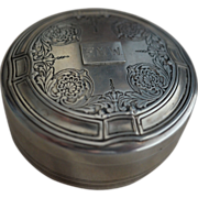 SALE Large Tiffany Sterling silver Powder or Trinket Box