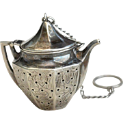 Teapot Shaped Sterling silver Tea Ball Infuser