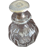 Huge Wallace Hand Hammered Sterling silver Topped Perfume Bottle