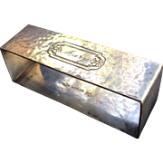 Hammered Sterling silver Napkin Ring Engraved Mary