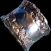 Ornate Blackberry or Raspberry Sterling silver Napkin ring