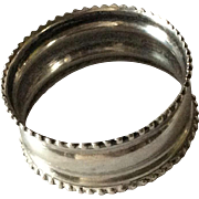 Gorgeous Beaded Sterling silver Napkin Ring