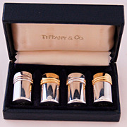 SOLD Sterling Silver Tiffany Salt and Pepper Shakers Set in Presentation Box