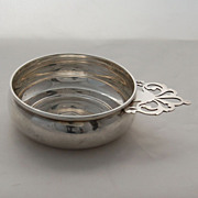 SALE Sterling Silver Lunt Porringer Bowl Pierced Handle Hand Wrought Vintage