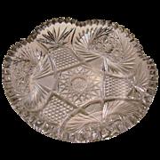 American Brilliant Period ABP Cut Glass Ice Cream Serving Bowl Antique ca. 1876-1906