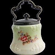 SALE Victorian Mount Washington Wave Crest Biscuit Cookie Cracker Barrel Jar circa 1890s