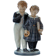Royal Copenhagen Figurine Flight to America Number 1761 Denmark