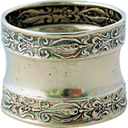 Vintage Sterling Silver Napkin Ring Repousse Design Number 2698
