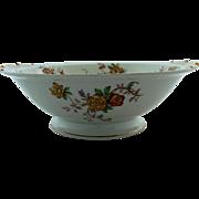 Vintage Limoges Bernardaud Riviera Round Pedestal Serving Bowl 10 Inches