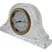 Waterford Crystal Mantle Clock Heritage Collection Wharton