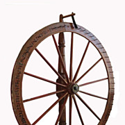 Superb Antique American Folk Art Carnival Wagon Wheel Gaming Device