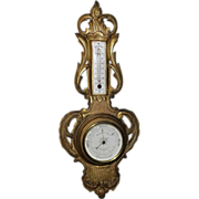 SALE Antique 19th C Louis XV Style Gilt-wood Bourgeois Barometer