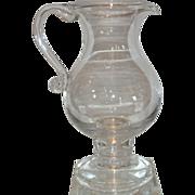 SALE Colonial Williamsburg 18th C Style Georgian Glass Pircher w Gold Coin Leerdam