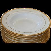 SALE Set of 8 Antique Tiffany & Co New York Minton Porcelain Wide Gold Rim Soup ...