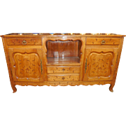 SALE Antique French Provincial Buffet w Inlaid Star Decoration