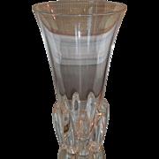 SALE Big Unusual Signed Steuben Crystal Vase