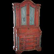 SALE Spectacular Antique Venetian Painted Secretary