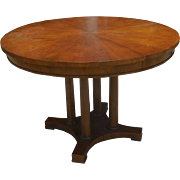 SALE Signed Baker Furniture Company Round Center or Breakfast Table