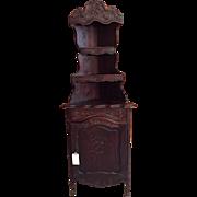 SALE Superb Antique French Provincial Corner Cabinet