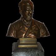 SALE Superb Antique Bronze Bust Sculpture of a Gentleman