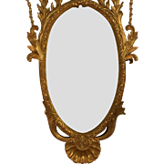 SALE Huge Hand Carved Italian Regency Style Gilt-wood Mirror