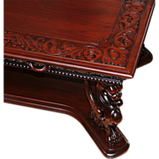 SALE 1059 English Sheraton Style Mahogany Library Table with Leather Top