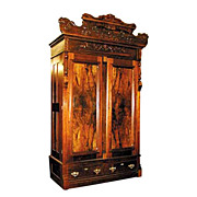 SALE 1285 Victorian Walnut & Burl Armoire