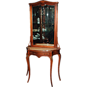 SALE 1296 Antique 19th C. French Console/Hall Piece with Beveled Mirror