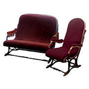 SALE 2312 Rare Thonet Bentwood Settee & Matching Chair