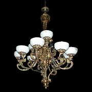 SALE 2738 Late 19th c. French Napoleon III Gilt-Bronze and Patinated Bronze 11-light ...