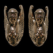 SALE 4330 Pair of Neo-Classical Bronze Wall Lights