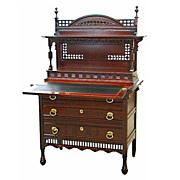 SALE 4599 Aesthetic Movement Mahogany Writing Desk