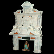 SALE 71.4753 Monumental Carved Figural Fireplace