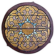 SALE 4817 4' Circular Stained Glass Window