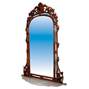 SALE 484 Alexandre Roux Mirror and Marble Console