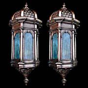 REDUCED 5002 Fantastic Pair of 19th C. Bronze Antique Sconces