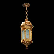SALE 5029B Beautiful Antique 19th C. Hanging Bronze Lantern
