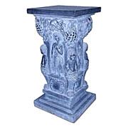 SALE 506 Large Solid Black Marble Pedestal