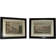 SALE 5128 Signed Broadway NYC Aquatints by Raoul Varin